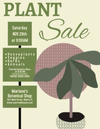 Botanical Plant Sale Flyer template