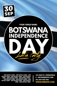 Botswana Independence Day Poster template