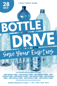 Bottle Drive Poster template