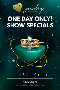 Bottle Green Jeweler Store Advertisement Offe Iphosta template