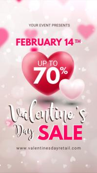 Off White Valentine's Retail Display Ad История на Instagram template