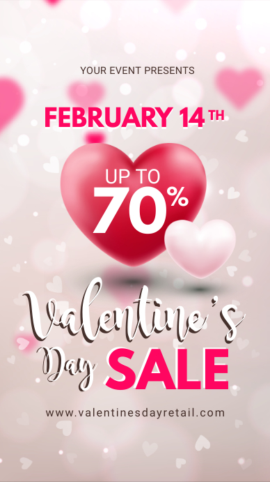 Off White Valentine's Retail Display Ad