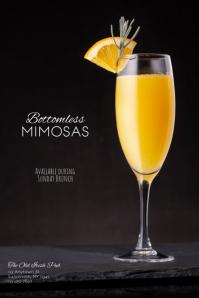 Bottomless Mimosas Sunday Brunch Flyer