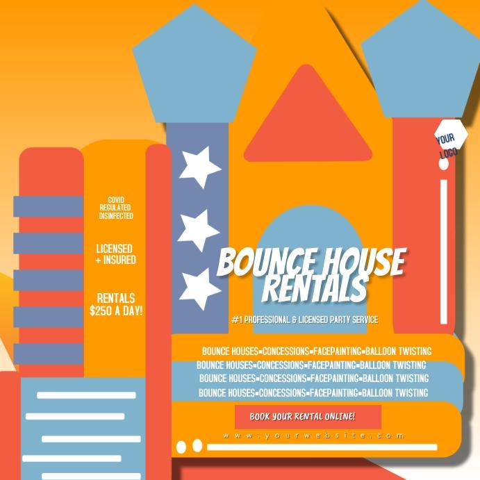 Bounce House Rentals Party Flyer Instagram-bericht template