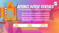 Bounce House Rentals Party Video Flyer Digitale display (16:9) template