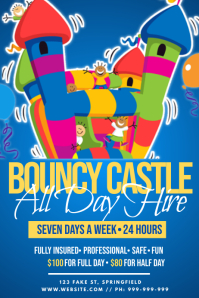 Bouncy Castle Hire Poster template