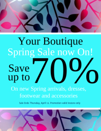 Boutique Spring Sale Flyer Template