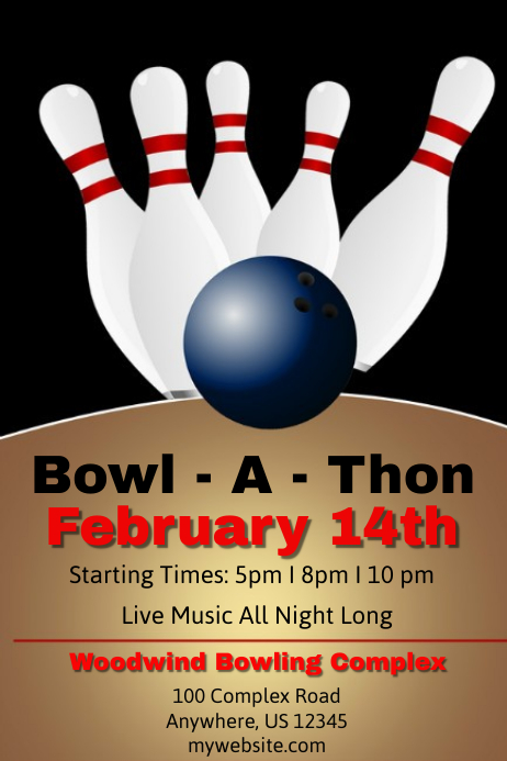 Bowl A Thom Poster template
