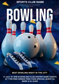 Bowling 🎳 A4 template