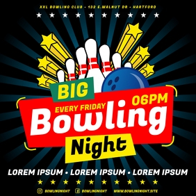 BOWLING BANNER Instagram Post template