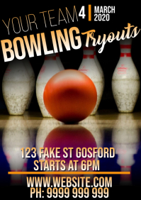 Bowling A5 template