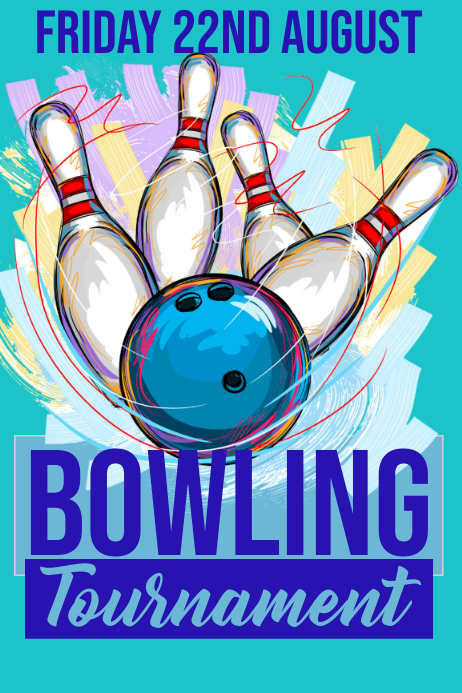Bowling Póster template