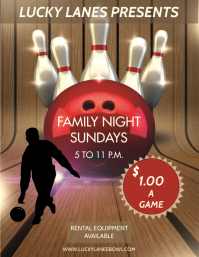 BOWLING Flyer (US Letter) template