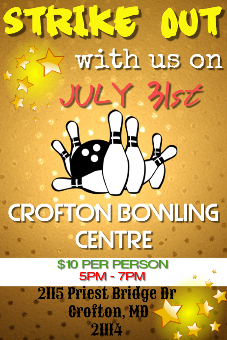 Bowling Event Template PosterMyWall - Bowling event flyer template