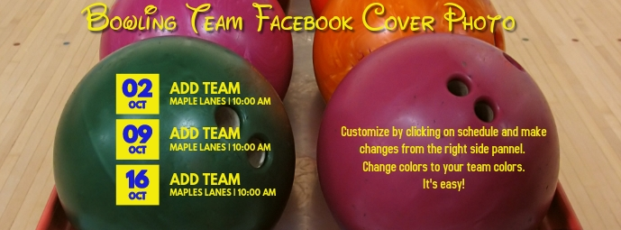 Bowling Facebook Cover Photo template