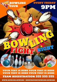 BOWLING FIGHT NIGHT POSTER