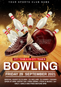 bowling flyer A4 template