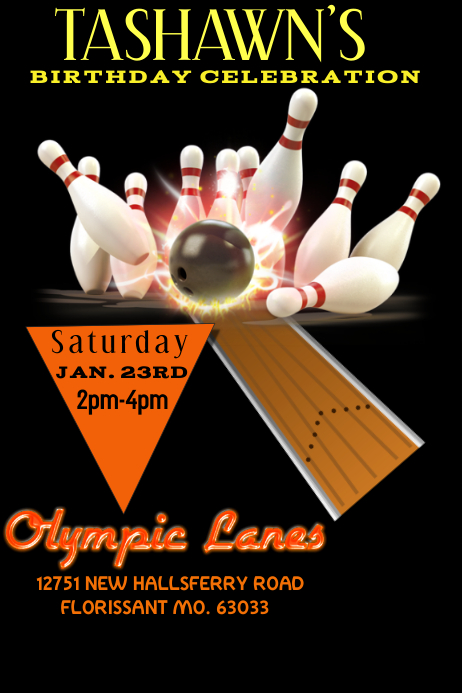 Beautiful Bowling Flyer. Customize Template To Bowling Flyer Template Free