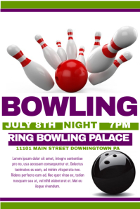 Customizable Design Templates For Bowling Event PosterMyWall - Bowling event flyer template