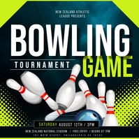 bowling game Message Instagram template