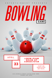 bowling game flyer template