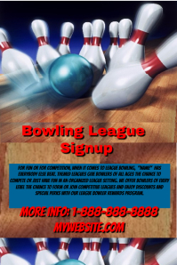 Bowling League Signup Template