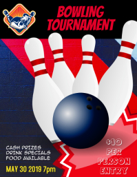 Bowling league tournament flyer
