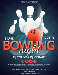 BOWLING NIGHT EVENT PARTY Flyer template