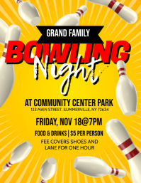 Bowling Night Flyer