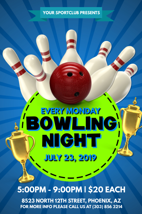 Bowling Night Poster