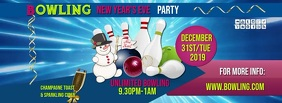 bowling party fb video Facebook Cover Photo template