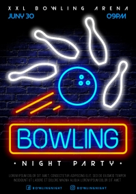 BOWLING POSTER A4 template