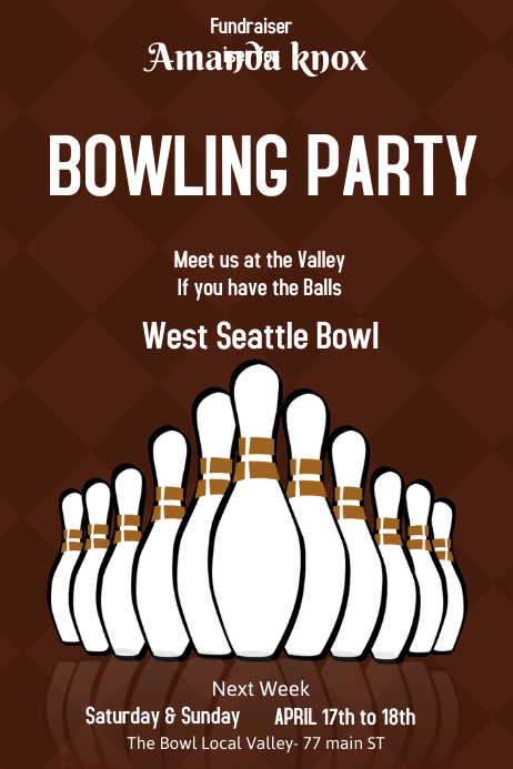 bowling poster template
