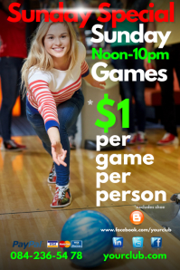 Bowling special Poster template
