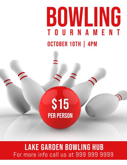 bowling tournament Volante (Carta US) template
