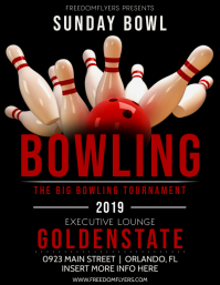 Bowling Tournament Flyer (US Letter) template