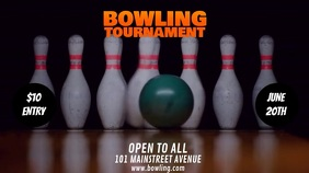 BOWLING TOURNAMENT FLIER Digital Display (16:9) template