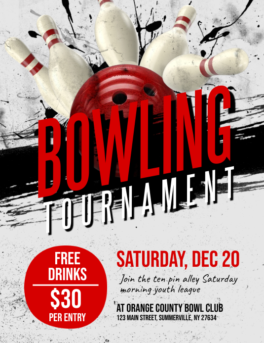 Bowling Tournament Flyer