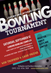 Bowling Tournament Flyer A4 template