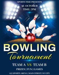 Bowling Tournament Flyer Template Poster/Wallboard