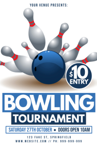 Bowling Tournament Poster