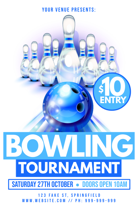 Bowling Tournament Poster