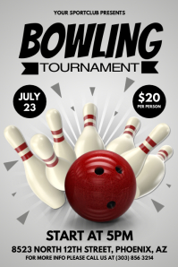 Bowling Event Flyer Ukransoochico - Bowling event flyer template