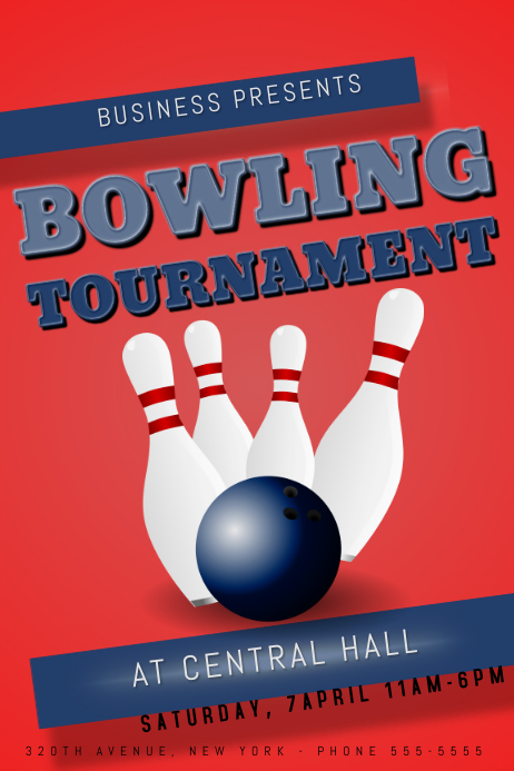 Bowling Tournament Flyer Template Postermywall