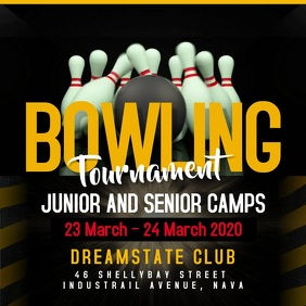 Bowling Tournament Square Video template