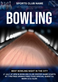 Bowling video ad 🎳 A4 template