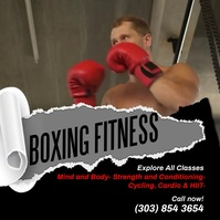 Boxing Fitness Instagram Video Wpis na Instagrama template
