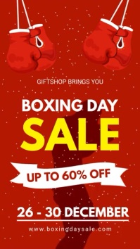 Boxing Day 60% OFF Online Sale Display template