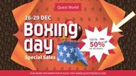 Boxing Day Banner Vidéo de couverture Facebook (16:9) template