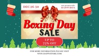 Boxing Day Big Sale Banner Facebook-omslagvideo (16:9) template